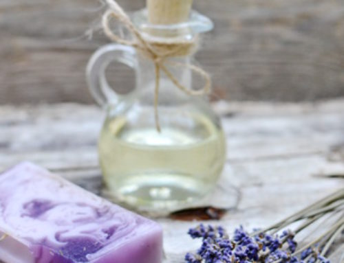 Selbstgemachte Lavendelseife