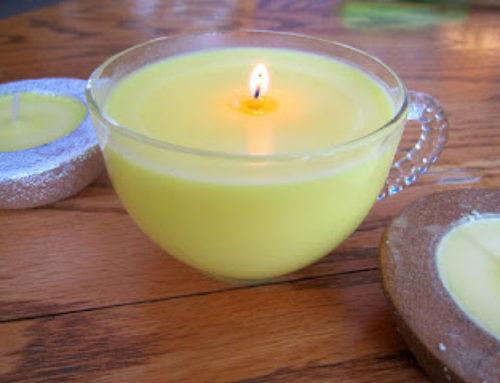 Selbstgemachte Zimtkerze / DIY Cinnamon Candle