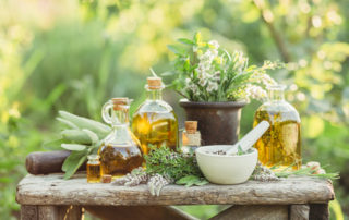 Medicinal plants and oils for massage