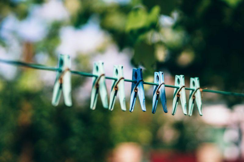 Waschmittel - Wäscheleine